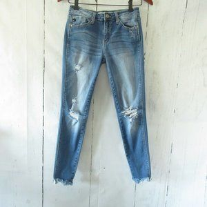 KanCan Jeans 26 5 Destroyed Ripped Holes Raw Hem